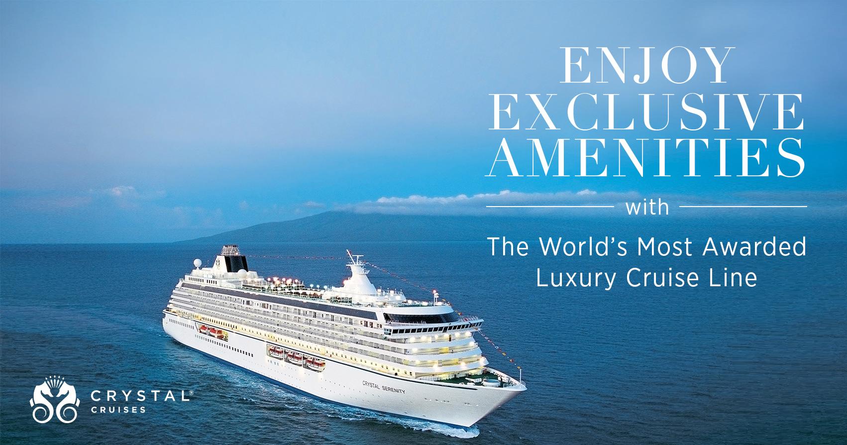 Crystal Cruises – Hosted Sailings Savings